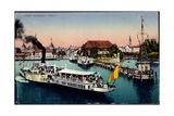 Konstanz Bodensee, Blick in Den Hafen, Dampfer