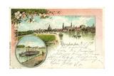 Litho Dresden, Blick Von Der Marienbrucke, Dampfer