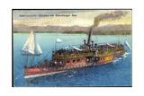 Starnberger See, Salondampfer Munchen, Segelboot