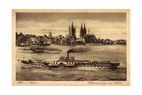 Koln Rhein, FlUSS Mit Dom, Dampfer Prinz Heinrich
