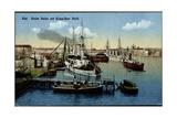 Kiel, Kieler Hafen Mit Krupp'Scher Werft, Schiffe