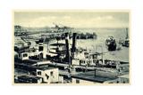 Komarno Ukraine, Donauansicht Mit Hafen, Schiffe