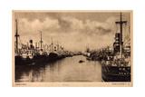 Bremen, Blick in Den Freihafen 2, Anlegende Schiffe