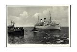 Cuxhaven, Dampfer Italia Passiert Die Alte Liebe