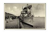 Cuxhaven,Seebaderbrucke,Dampfer Kaiser Der Hapag
