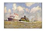 Kunstler Schmidt, R., Dampfer Cap Polonio Im Hafen