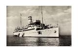 Helgoland, Hapag, Dampfschiff Cobra Vor Anker