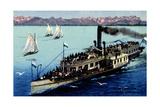 Kunstler Dampfer Starnberg Auf Dem Starnberger See