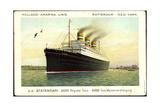 Hapag, D.D. Statendam, Dampfschiff Am Hafen