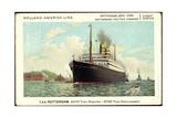 Hapag, T.S.S Rotterdam, Dampfschiff Am Hafen