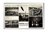 Lindau Bodensee, Hafen Mit Zeppelin, Leuchturm