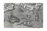 Sea Monsters, Detail from a 16th Century Map