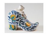 Purse-Shaped Hand Warmer, Ceramic, Caltagirone Manufacture, Sicily, Italy