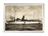 Hapag, Seebaderdienst, Dampfschiff Cobra in Fahrt