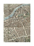 A Balloon View of London, Detail of Central London, 1851