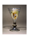 Crystal Glass Goblet with Sforza Family Coat of Arms, Murano, Venice, Italy