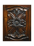 Carved Door, Detail from Carved Walnut Wardrobe with the Coat of Arms of the Counts of Cavour