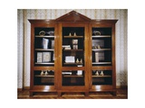 Oak Bookcase with Mahogany Veneer Finish, Circa 1790, France