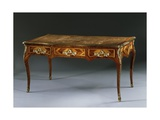 Louis XV Style Writing Desk with Leather Top, France