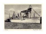 Hamburg, Hapag, Dampfschiff Oceana Am Hafen