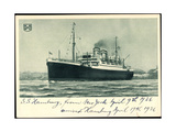 Hapag, S.S. Hamburg, New York, 1936, Dampfschiff