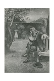 Sir Isaac Newton Sees an Apple Fall