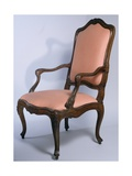 Louis XIV Style Carved Walnut Genoese Armchair, Italy, Mid-18th Century
