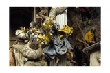 Magi and Angel, Neapolitan Nativity Figurines from 18th Century