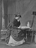 Augusta Crofton at a Writing Table, C.1865