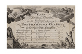 Northampton Chapel, Trade Card