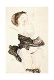 Lying Young Female, Half Nude, 1912