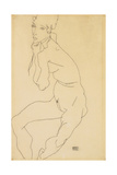 Seated Female Nude with Hand on Chin, 1914