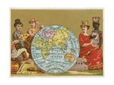 Globe - 19th Century French Trade Card