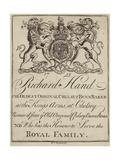 Bun Baker, Richard Hand, Trade Card
