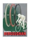 Poster Advertising Bergougnan Bicycle Tyres, 1940