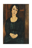 Woman in a Plaid Dress, 1916