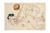 Two Female Nudes, Reclining and Kneeling