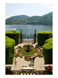 Fountain in the park of Villa Carlotta, Tremezzo, Lake Como, Lombardy, Italy