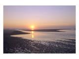 Sunrise on the beach, Langeoog, East Frisian Islands, Lower Saxony, Germany