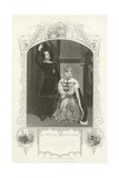 Mr Phelps as Hamlet and Miss Glyn as Queen, Hamlet, Act III, Scene IV
