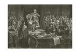 Oliver Cromwell Refusing the Crown of England, 1657