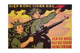 Viet Cong Propaganda Poster, Published in North Vietnam, 1972