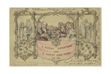 Facsimile Reproduction of the First Christmas Card