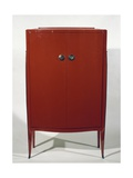 Art Deco Style Red Lacquered Cabinet