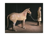 A Warrior with His Horse, from the Terracotta Army, C.210 Bc