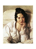 The Sick Woman, Portrait of Carolina Zucchi by Francesco Hayez
