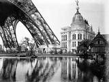 Gas Pavilion and Swedish Chalet, Paris Exhibition, 1889