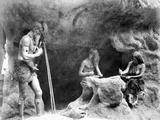 Stone Age People Making Flint Instruments, Paris Exhibition, 1889