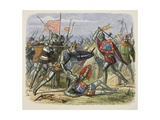 Henry V Attacked by the Duke of Alencon on the Battlefield