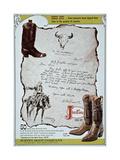 Justin Cowboy Boots Advert